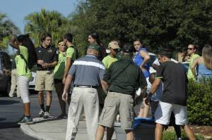Faculty, students and staff are joined by Dr. William Lennox, Saint Leo University's ninth president, for Move-In Day, August 20, at the Pasco County campus. Renee Gerstein Saint Leo University