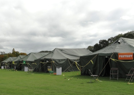 Foxtrot, Echo, Delta, Charlie were the tent names for the Stand Down sleeping quarters.