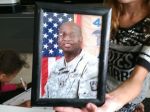 Keith Norman served almost 10 years in the Army including two tours in Iraq before pursuing his dream to become a law officer. Credit Bobbie O'Brien / WUSF Public Media
