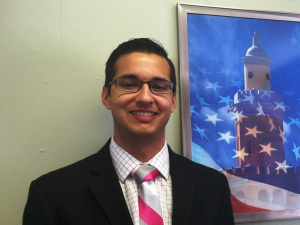Third year Stetson law student Patrick Iyampillia, 24, worked on veterans' disability cases that were older than him.