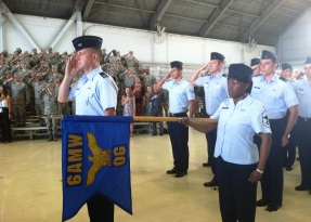 macdill salute - airmen change of command ceremony